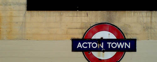 Acton Town sign by Nicobobinus