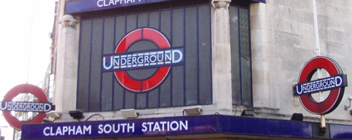 Clapham South tube station.